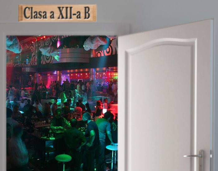 Jean Monnet aşteaptă deja elevii: în clase s-au montat scrumierele şi mini-barurile