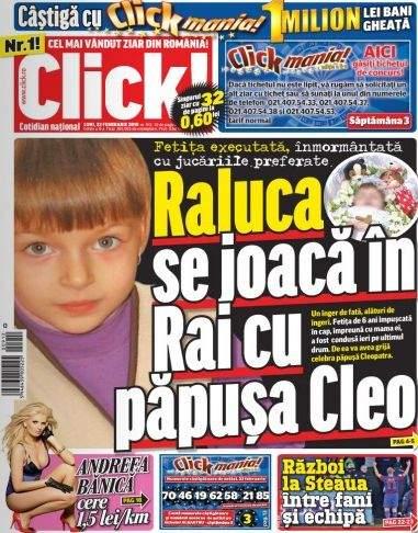 Click! minte, fetiţa împuşcată în cap nu se joacă cu păpuşa Cleo în Rai