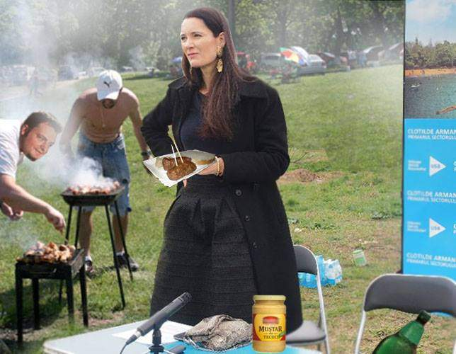 Chiar că e româncă! Clotilde Armand mănâncă micii cu muştar de Tecuci, nu cu muştar de Dijon!