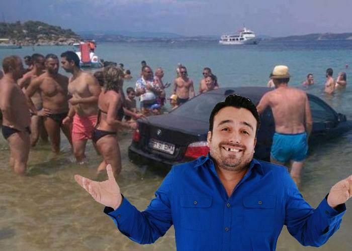 """Cocalar revoltat că a luat amendă după ce a intrat cu BMW-ul în mare: """"Păi n-am depășit geamandura!"""""""