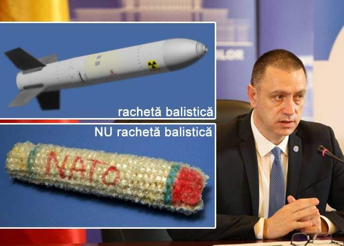 Ministrul Apărării se corectează: Cocenii vopsiţi de la Deveselu nu sunt rachete balistice, ci doar de interceptare