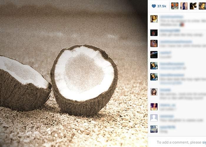 Naufragiat pe o insulă pustie, un hipster pune de 2 ani pe Instagram numai poze cu nuci de cocos