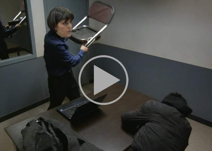 Codruţa a difuzat şi ea o înregistrare, în care îl bate pe Sebastian Ghiţă