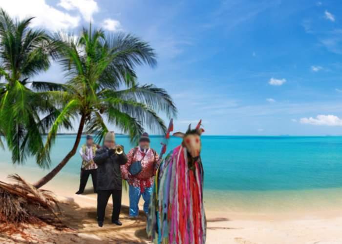 Nicăieri nu scapi! Doi români aflați pe o plajă din Thailanda s-au trezit cu colindătorii la șezlong
