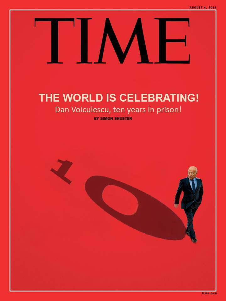 Foto! Revista Time celebrează printr-o copertă spectaculoasă condamnarea lui Dan Voiculescu