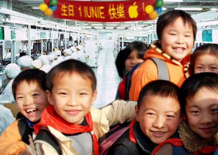 Gest superb făcut de Apple! Copiii care lucrează în fabrica lor din China au primit azi 2 ore libere