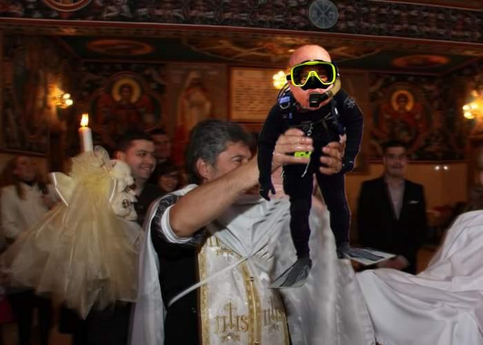 Copiii vor putea fi botezaţi doar îmbrăcaţi în costumaşe de scafandru