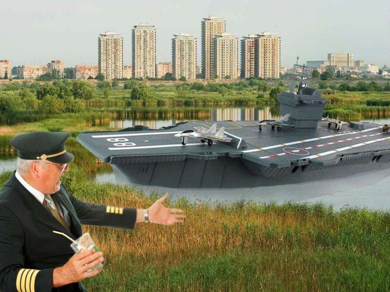 Portavion american, eşuat în Delta Văcăreşti după ce a confundat Vitanul cu Coreea de Nord