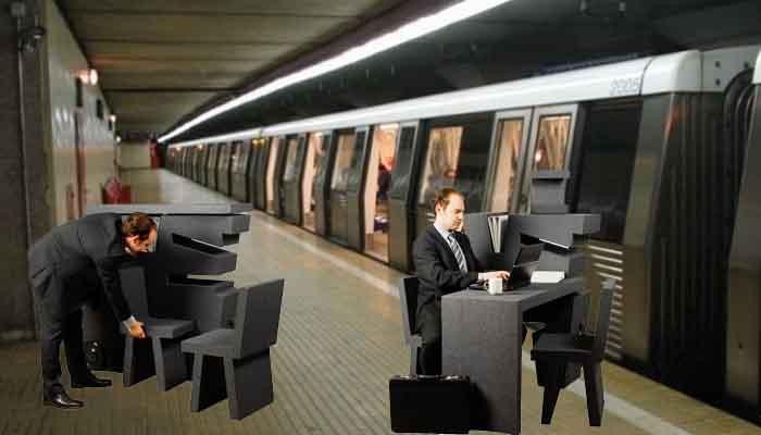 Corporatiștii vor fi dotați cu birouri mobile, pentru a putea lucra și din metrou sau troleibuz