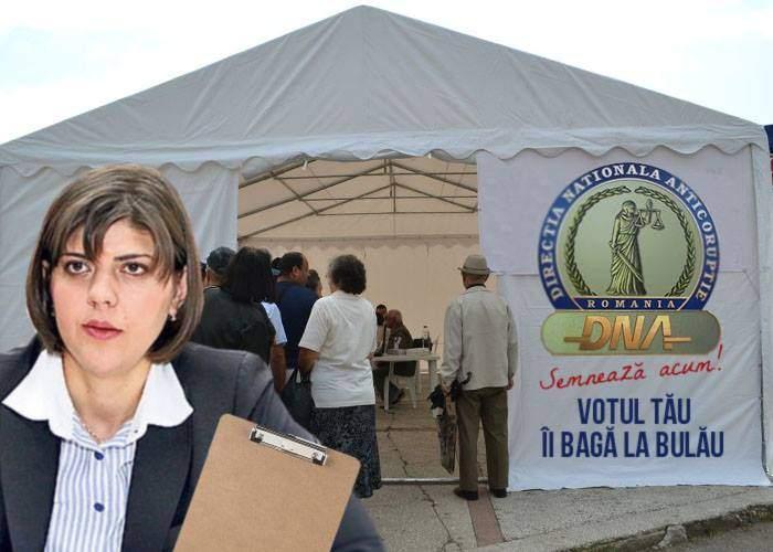 Au apărut corturi DNA cu Codruţa, unde poţi să semnezi pentru arestarea cărui candidat vrei tu