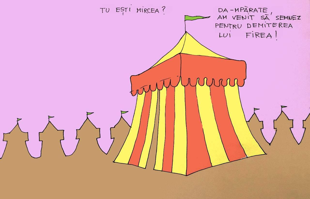 Discuție în cort