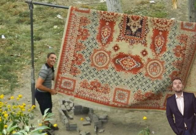 Trimis de mama lui să bată covorul, Mircea Badea a sfârșit prin a se împăca cu el
