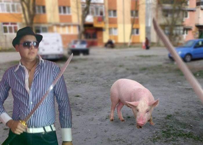 Decembrie e luna în care în Craiova săbiile ninja se folosesc mai mult pe porci decât pe oameni