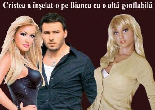 Bianca s-a despărţit de Cristea pentru că l-a surprins în compania altei femei gonflabile