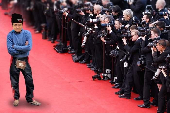 În port tradiţional la Cannes! Mungiu, cu pantaloni rupţi în cur şi pantofi găuriţi pe covorul roşu