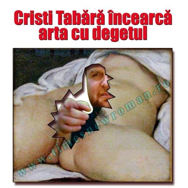"""Cristi Tabără a agresat sexual tabloul """"Originea lumii"""" al lui Courbet"""