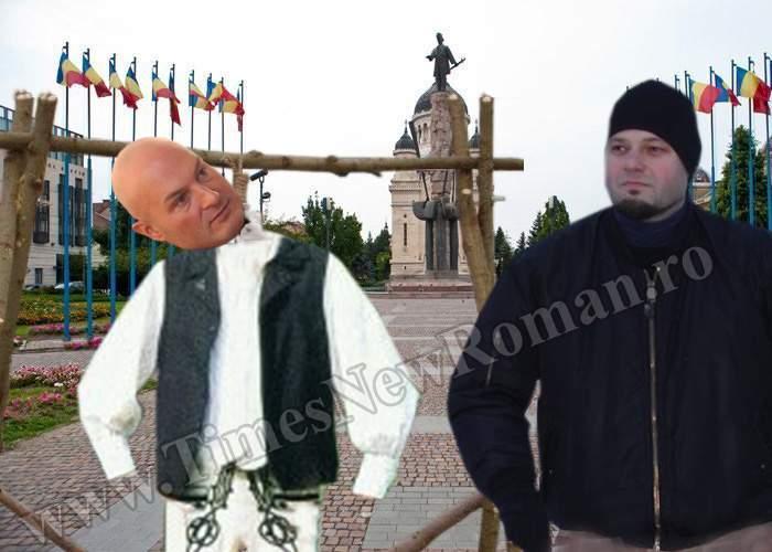 Csibi Barna a spânzurat o păpuşă cu chipul lui Arpad Paszkany