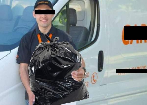 O femeie a descoperit că soţul ei este curier, după ce l-a trimis cu gunoiul şi a spus că n-a găsit tomberonul la adresă