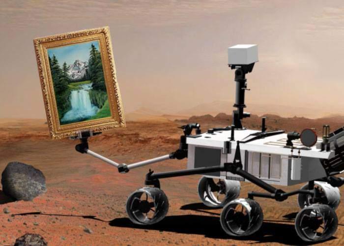 Robotul Curiosity a descoperit pe Marte încă două tablouri ascunse de ministrul Darius Vâlcov