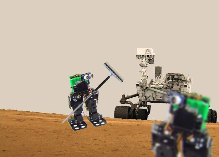 Robotul Curiosity, asaltat pe Marte de sonde spaţiale româneşti care se oferă să-i spele parbrizul