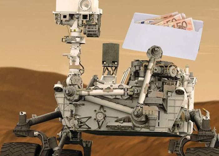 Dezvăluire şocantă! Robotul Curiosity ar fi luat şpagă de la marţieni ca să îi treacă cu vederea