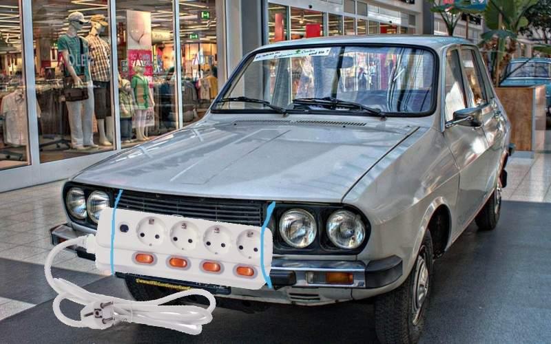 Ca să scape de taxă, românii îşi pun ştechere pe capota maşinii şi pretind că e electrică