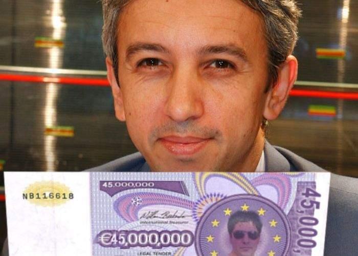 Dan Diaconescu a prezentat dovada că are bani pentru Oltchim: bancnota de 45 milioane euro