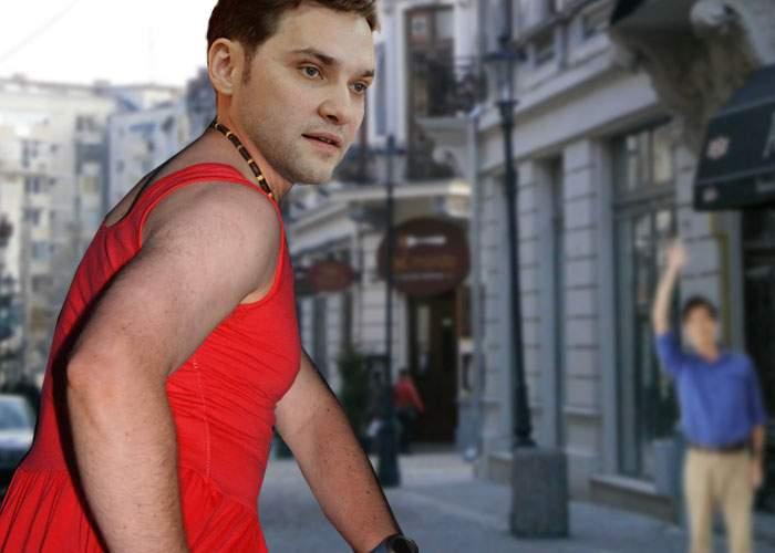 Dan Şova a fost păcălit de 1 Aprilie că e femeie şi a ieşit pe stradă într-o superbă rochie roşie