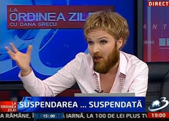 Dana Grecu şi-a lăsat barbă în semn de doliu faţă de invalidarea referendumului