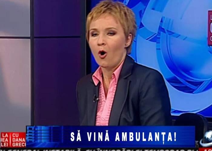 Emisiunea Danei Grecu nu a putut fi difuzată pentru că din platou lipsea ambulanţa pentru invitaţi