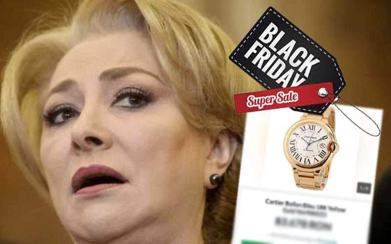 """Dăncilă, şocată să afle că are un ceas de 20.000 euro: """"L-am luat de Black Friday cu 50.000"""""""
