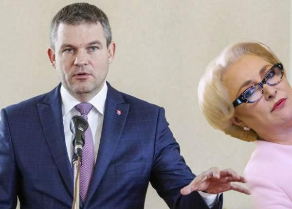 Premierul Slovaciei a plecat furios şi a cerut banii înapoi după ce Dăncilă n-a făcut nicio gafă