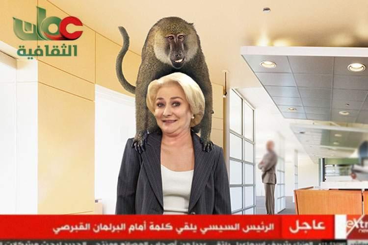 Dăncilă s-a întâlnit în Oman cu omologul său, pavianul dresat al sultanului