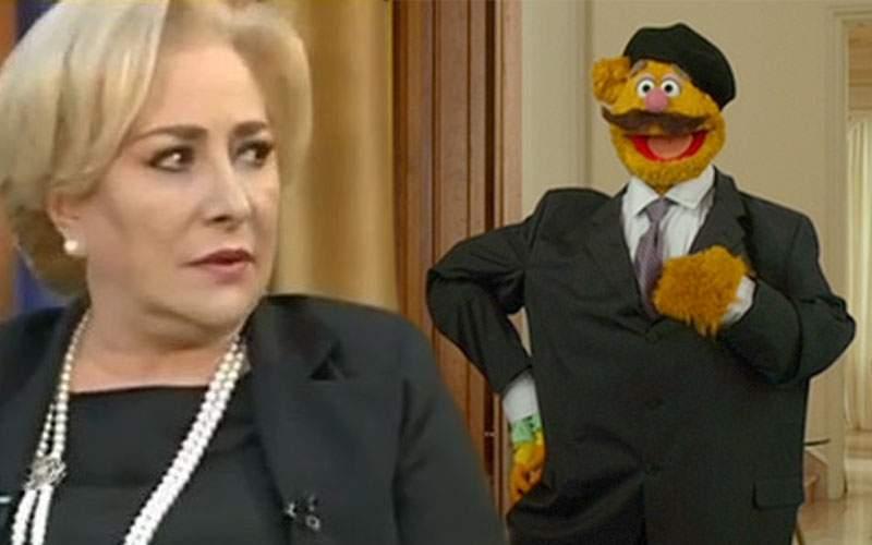 Actorii de la Ţăndărică i-au explicat cu păpuşi lui Dăncilă care e faza cu moţiunea de cenzură