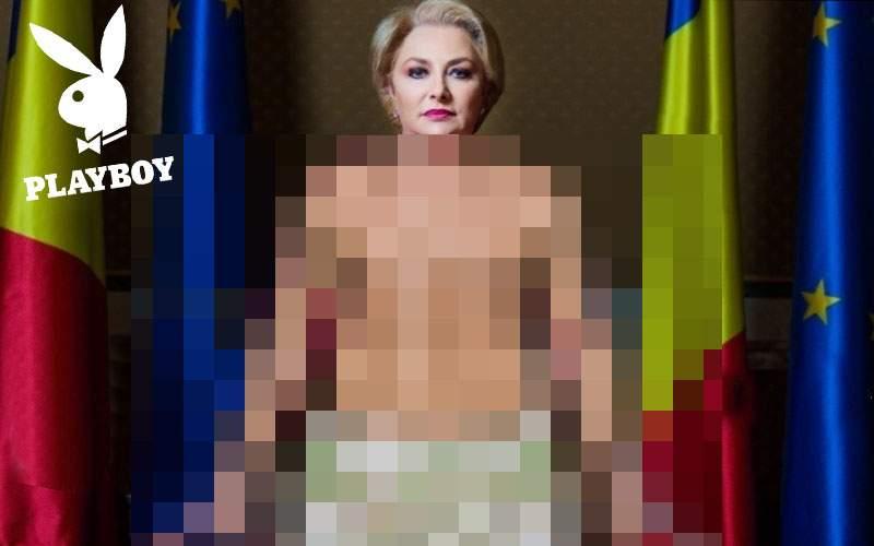 Închideţi internetul! Viorica Dăncilă şi-a aranjat un articol elogios şi în Playboy