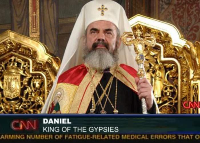 Veşmintele de aur nasc confuzii! CNN l-a prezentat drept noul rege al ţiganilor pe Patriarhul Daniel