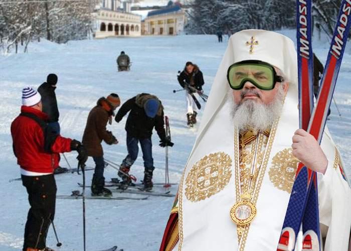 La alţii ninge cu bani! Patriarhul a deschis o pârtie privată de schi pe Dealul Mitropoliei