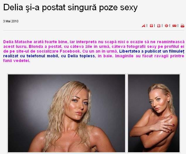 Delia Matache nu găseşte spaţiu în tabloide pentru pozele cu ea goală