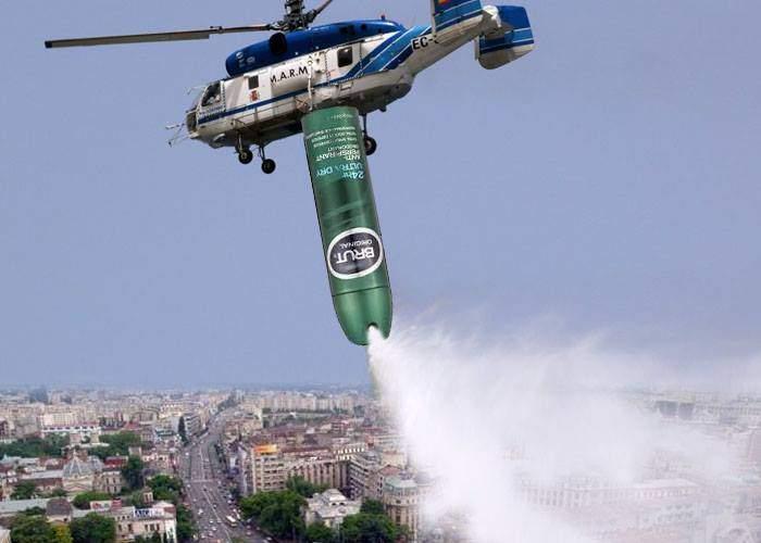 Așa da! Primăria va trimite elicoptere să împrăștie deodorant peste București