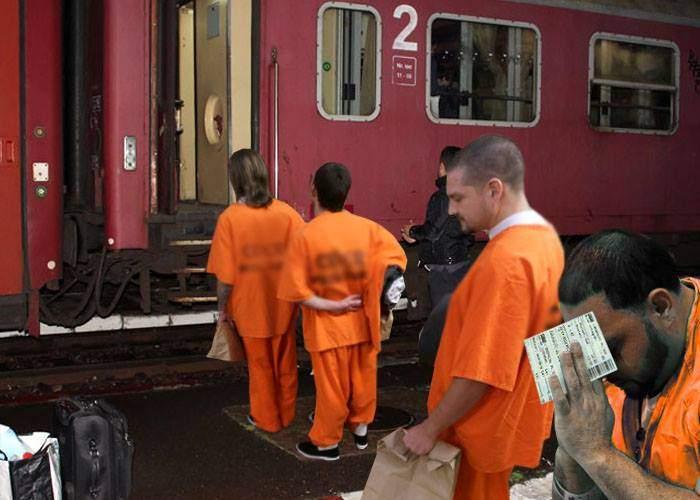 Deţinuţii eliberaţi de Tudorel vor executa totuşi pedeapsa întreagă, că se întorc acasă cu trenuri CFR