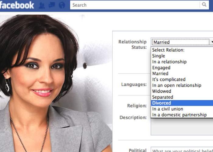 Potrivit legii, divorţul Bănică-Marin devine valabil la 30 de zile după publicarea în Facebook