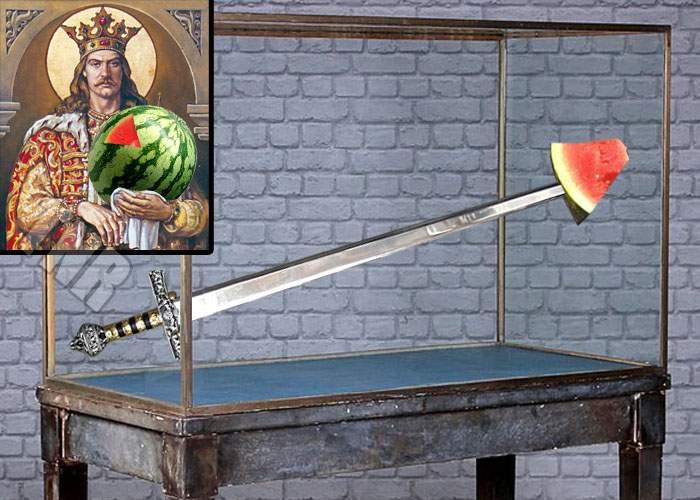 A fost descoperită adevărata sabie a lui Ştefan cel Mare, cu dopul de pepene perfect conservat în vârf