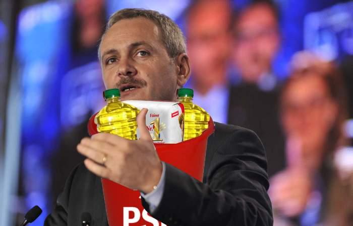"""Referendumul, deja câştigat? Dragnea a ales întrebarea: """"Doriţi graţiere, ulei, făină şi găleți?"""""""
