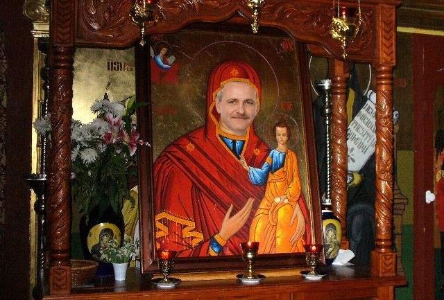 După ce și-au pus sigla pe calendare ortodoxe, PSD înlocuiește și sfinții din biserici cu pesediști