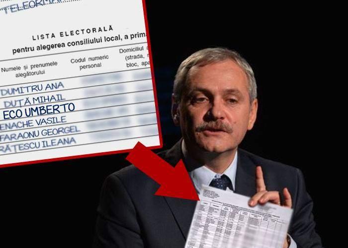 Omagiu superb! Liviu Dragnea l-a trecut pe Umberto Eco pe listele electorale din Teleorman