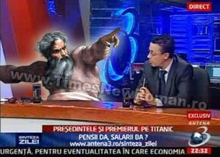Dumnezeu va realiza o emisiune la Antena 3