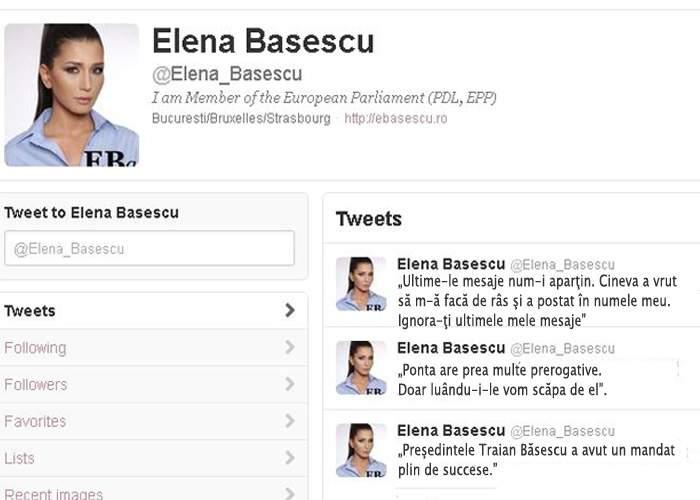"""Eba acuză: """"Cineva mi-a spart contul de Twitter şi a postat mesaje corecte gramatical"""""""