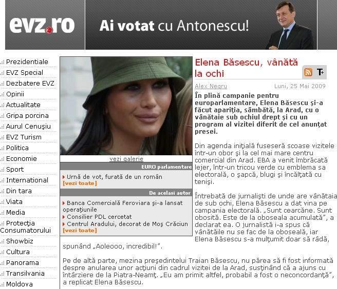 Video: Traian Băsescu a lovit un copil