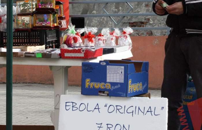 Deşi Ebola nu a apărut încă oficial în România, zeci de bişniţari o vând deja în Piaţa Obor