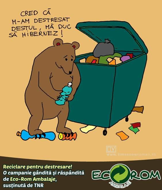 Urs destresat